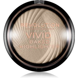 Makeup Revolution Vivid Baked zapečený rozjasňující pudr odstín Golden Lights 7,5 g