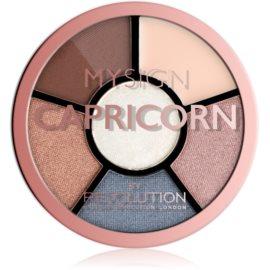 Makeup Revolution My Sign paletă pentru ochi culoare Capricorn 4,6 g