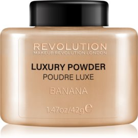 Makeup Revolution Luxury Powder mineralni puder odtenek Banana 42 g