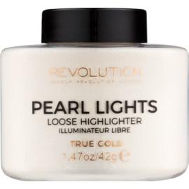 Makeup Revolution Pearl Lights osvetljevalec v prahu  odtenek True Gold 35 g