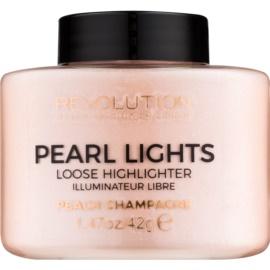 Makeup Revolution Pearl Lights osvetljevalec v prahu  odtenek Peach Champagne 35 g