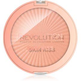 Makeup Revolution Skin Kiss iluminator pentru față și zona ochilor culoare Rose Gold Kiss 14 g