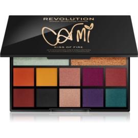Makeup Revolution Carmi paleta ce contine iluminator si fard de pleoape culoare Kiss Of Fire 27 g