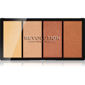 Makeup Revolution Reloaded paleta osvetljevalcev odtenek Lustre Lights Heatwave 4 x 5 g