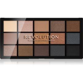Makeup Revolution Reloaded paleta senčil za oči odtenek Smoky Neutrals 15 x 1,1 g