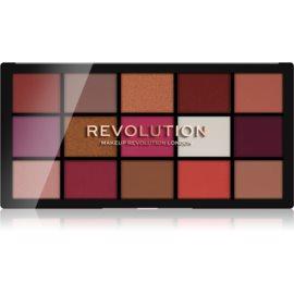 Makeup Revolution Reloaded paleta senčil za oči odtenek Red Alert 15 x 1,1 g
