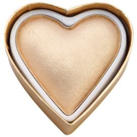 Makeup Revolution I ♥ Makeup Blushing Hearts pudra pentru luminozitate Zeita aurului  10 g