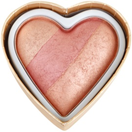 Makeup Revolution I ♥ Makeup Blushing Hearts rdečilo odtenek Peachy Keen Heart 10 g