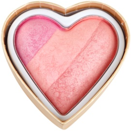 Makeup Revolution I ♥ Makeup Blushing Hearts компактні рум'яна відтінок Candy Queen Of Hearts 10 гр