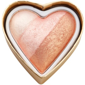 Makeup Revolution I ♥ Makeup Blushing Hearts компактні рум'яна відтінок Iced Hearts 10 гр