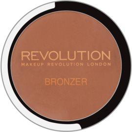 Makeup Revolution Bronzer bronzosító tükörrel és aplikátorral árnyalat Bronzer Kiss 6,8 g