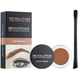 Makeup Revolution Brow Pomade Spancene Pomada culoare Soft Brown 2,5 g