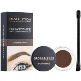 Makeup Revolution Brow Pomade pomáda na obočí odstín Dark Brown 2,5 g