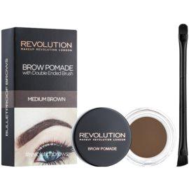 Makeup Revolution Brow Pomade Spancene Pomada culoare Medium Brown 2,5 g