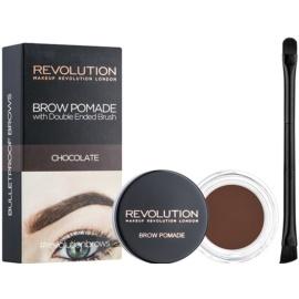 Makeup Revolution Brow Pomade pomáda na obočí odstín Chocolate 2,5 g