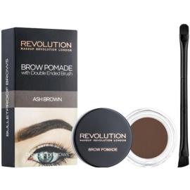 Makeup Revolution Brow Pomade pomáda na obočí odstín Ash Brown 2,5 g