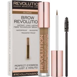 Makeup Revolution Brow Revolution gel fixare pentru sprancene culoare Blonde 3,8 g