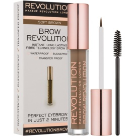 Makeup Revolution Brow Revolution gel fixare pentru sprancene culoare Soft Brown 3,8 g