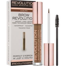Makeup Revolution Brow Revolution gel fixare pentru sprancene culoare Auburn 3,8 g