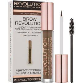 Makeup Revolution Brow Revolution gel fixare pentru sprancene culoare Medium Brown 3,8 g