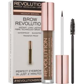 Makeup Revolution Brow Revolution fixační gel na obočí odstín Medium Brown 3,8 g