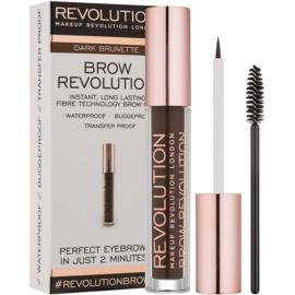 Makeup Revolution Brow Revolution gel fixare pentru sprancene culoare Dark Brunette 3,8 g