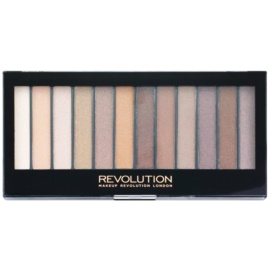 Makeup Revolution Essential Shimmers палитра от сенки за очи  14 гр.