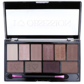 Makeup Revolution I ♥ Makeup I ♥ Obsession Palette paleta očních stínů (Pure Cult) 17 g