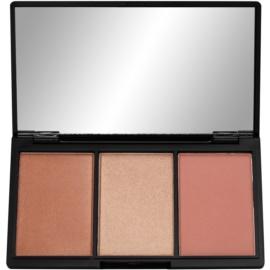 Makeup Revolution Iconic paleta pentru contur facial culoare Golden Hot  11 g