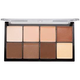 Makeup Revolution Ultra Pro HD Light Medium paleta na kontury obličeje krémová  20 g