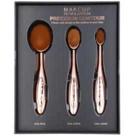 Makeup Revolution Pro Precision Brush set perii pentru contur  3 buc