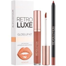 Makeup Revolution Retro Luxe set îngrijire buze culoare Honour 5,5 ml