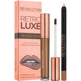 Makeup Revolution Retro Luxe set ruj metalic culoare We Rule 5,5 ml