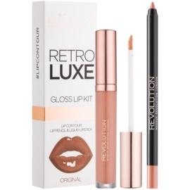 Makeup Revolution Retro Luxe set îngrijire buze culoare Original 5,5 ml