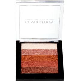 Makeup Revolution Shimmer Brick autobronzant și iluminator 2 in 1 culoare Rose Gold 7 g