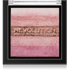 Makeup Revolution Shimmer Brick Bronzer and Highlighter 2 In 1 Shade Pink Kiss 7 g