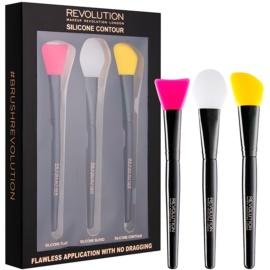 Makeup Revolution Silicone Contour Set Siliconen Penselen voor Contouren   3 st