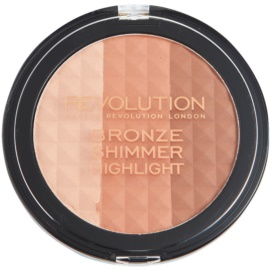 Makeup Revolution Ultra Bronze Shimmer HIghlight Bronzing Highliting Poeder  15 gr