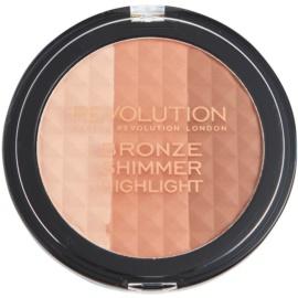 Makeup Revolution Ultra Bronze Shimmer HIghlight bronzující rozjasňující pudr  15 g
