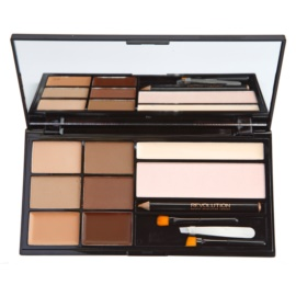 Makeup Revolution Ultra Brow paleta za ličenje obrvi odtenek Fair To Medium  18 g