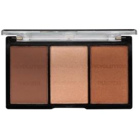 Makeup Revolution Ultra Sculpt & Contour палитра контури за лице цвят 04 Ultra Ligt/Medium 11 гр.