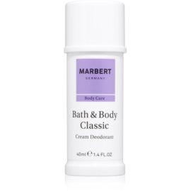 Marbert Bath & Body Classic Creme Deodorant für Damen 40 ml