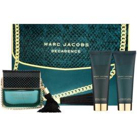 Marc Jacobs Decadence dárková sada I.  parfémovaná voda 100 ml + tělové mléko 75 ml + sprchový gel 75 ml