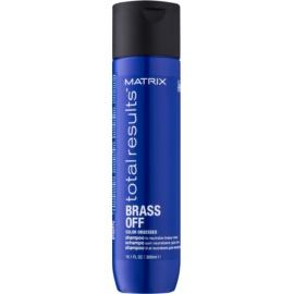 Matrix Total Results Brass Off Shampoo zum Neutralisieren von Gelbstich  300 ml