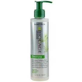 Matrix Biolage Advanced Fiberstrong cuidado cremoso sem enxaguar  para cabelo fraco e cansado  200 ml