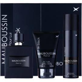 Mauboussin Mauboussin Pour Lui in Black Geschenkset I. Eau de Parfum 100 ml + Duschgel 100 ml + Deo-Spray 150 ml