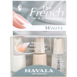 Mavala French Manicure White комплект за френски маникюр цвят No. 49 White + No. 91 Reno + Minute Quick Finish) 3 x 5 мл.