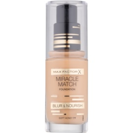 Max Factor Miracle Match tekutý make-up s hydratačným účinkom odtieň 77 Soft Honey 30 ml