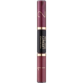 Max Factor Lipfinity Colour and Gloss Long - Lasting Lipstick And Lip Gloss 2 In 1 Color 550 Reflective Ruby 2x3 ml