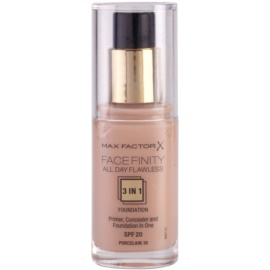 Max Factor Facefinity Foundation 3 in 1 Shade 30 Porcelain SPF20  30 ml